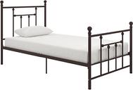 Manila Metal Twin Bed, Bronze