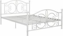Bombai Metal Full Bed, White