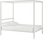 Modern Metal Canopy Full Bed, White