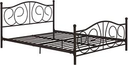 Kris Queen Metal Bed, Bronze