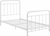 Lynly Iron Twin Bed, White