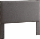 Contempo Full/Queen Upholstered Headboard, Charcoal