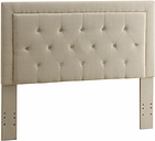 Clayton Full/Queen Upholstered Headboard, Natural