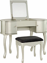 Paloma Vanity Set, Silver Finish