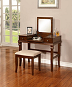 Contempo Vanity Set, Brown