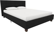 Upholstered Queen Bed, Black