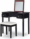Linon Vanity Set, Black Cherry