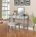 Renay Vanity Set, Silver