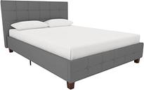 Rose Full Upholstered Bed, Gray