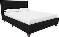 Rose Full Upholstered Bed, Black