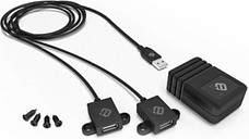 2-Port USB Charging System, Black