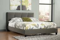 Masterton Queen Upholstered Bed, Gray