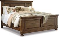 Flynnter Queen Panel Bed, Medium Brown
