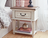 Realyn Nightstand, Chipped White