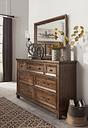 Royard Dresser and Mirror, Warm Brown
