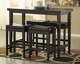 Kimonte Counter Height Dining Table, Dark Brown