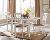 Brovada Dining Room Table and Chairs (Set of 5), Two-tone