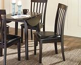 Hammis Dining Chair (Set of 2) Leather, Dark Brown