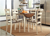 Woodanville Dining Table and 4 Chairs, Cream/Brown