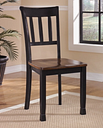 Owingsville Dining Chair (Set of 2), Black/Brown