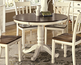 Whitesburg Dining Table, Brown/Cottage White
