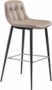 Tabitha Bar Height Bar Stool (Set of 2) Leather, Brown
