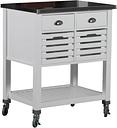 Robbin Kitchen Cart, White