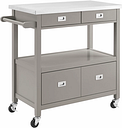Rolling Sydney Kitchen Cart, Gray