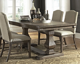 Johnelle Extension Dining Table, Gray