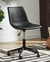 Office Chair Program Home Office Desk Chair, Black Leather