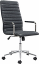 Zuo Modern Pivot Office Chair, Black Leather