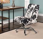 Draper Office Chair, Black/White