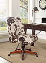 Draper Office Chair, Brown/White