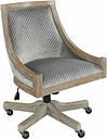 Morgan Quilted Office Chair, Gray