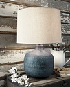 Malthace Table Lamp, Patina