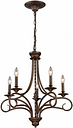 Silhouette Chandelier in Antique Bronze Finish, Antique Bronze