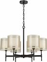 Waterloo Chandelier, Matte Black