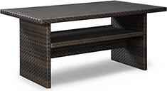 Easy Isle Multi-Use Table, Dark Brown/Beige
