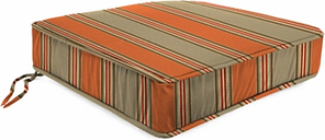 "Home Accents 22.5"" x 22.5"" Outdoor Deep Seat Chair Cushion, Poppy Stripe"