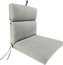 """Home Accents Outdoor 22"""" x 44"""" Sunbrella Chair Cushion, Granite"""