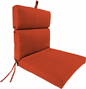 "Home Accents Outdoor 22"" x 44"" Sunbrella Chair Cushion, Grenadine"