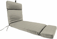 "Home Accents Outdoor Sunbrella 22"" x 72"" Chaise Cushion, Dove"