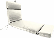 "Home Accents 22"" x 72"" Outdoor Sunbrella Chaise Cushion, Salt"