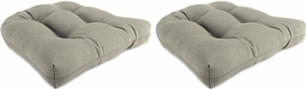 """Home Accents 18"""" x 18"""" Outdoor Sunbrella Wicker Chair Cushion (Set of 2), Dove"""