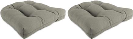 "Home Accents 18"" x 18"" Outdoor Sunbrella Wicker Chair Cushion (Set of 2), Smoke"