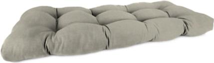 "Home Accents 44"" x 18"" Outdoor Sunbrella Wicker Settee Cushion, Dove"