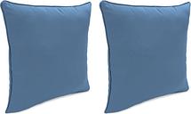 """Home Accents Outdoor Sunbrella 18"""" x 18"""" Toss Pillow (Set of 2), Sapphire"""
