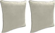 "Home Accents Outdoor Sunbrella 18"" x 18"" Toss Pillow (Set of 2), Dove"