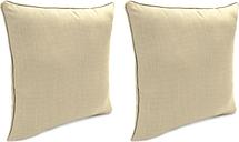 """Home Accents Outdoor Sunbrella Rain 18"""" x 18"""" Toss Pillow (Set of 2), Sand"""