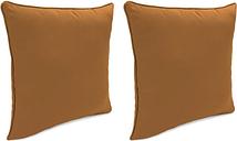 """Home Accents Outdoor Sunbrella 18"""" x 18"""" Toss Pillow (Set of 2), Cork"""